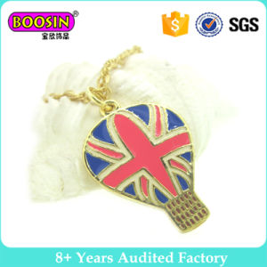 Gold Plated Customized National Flag Necklace Set Jewelry Gold pictures & photos