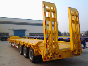 Low Bed Semi Trailer for Machine Transport pictures & photos