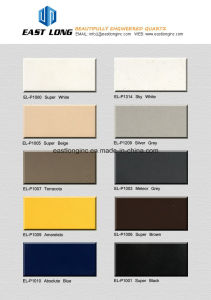 China Big Factory Single Color Artificial Quartz Stone Slabs pictures & photos