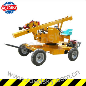 Expressway Metal Guardrail Hydraulic Pile Driving Machine for Post Installation pictures & photos