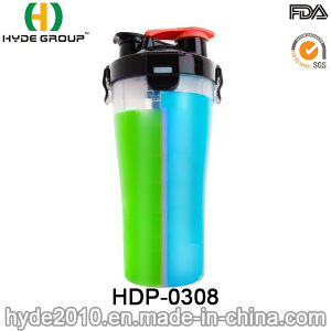 Portable Plastic BPA Free PP Shaker Bottle, Plastic Protein Powder Shaker Bottle (HDP-0308) pictures & photos