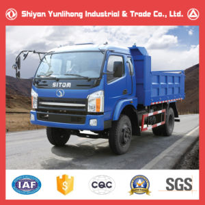 Tri-Ring 6 Wheel Tipping Truck for Sale/Flatbed Dump Tipper pictures & photos