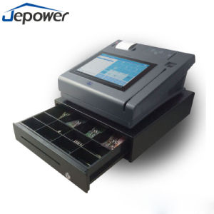 Cheap Touch Screen Coutertop POS Terminal Machine with Fingerprint Reader GPRS pictures & photos