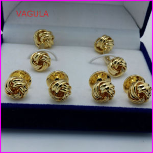 VAGULA Wholesale Quality Knot Collar Studs Buttons Cufflinks Hl161284 pictures & photos