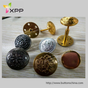Metal Screw Button Plated Gold Silver pictures & photos