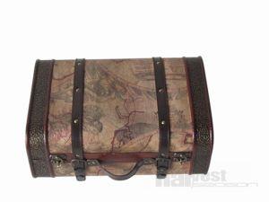 Antique Wooden Storage Suitcase