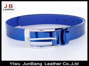 Lady′s Fashion Leather Mirror Belt