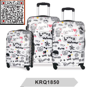 100% New ABS PC Printing Hard Shell Luggage pictures & photos