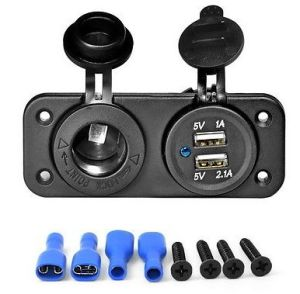 Dual USB Car Cigarette Lighter Socket Splitter 12V Charger Power Adapter Outlets with Terminals pictures & photos