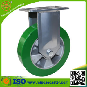 Elastic Green PU Aluminum Core Wheels Caster pictures & photos