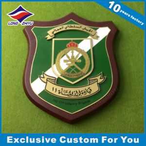 Wooden Shield Metal Plaque Customized Design pictures & photos