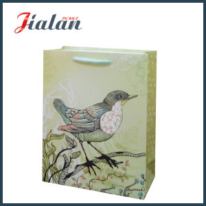 Customize with Glitter Birds Gift Packing Shopping Carrier Paper Bag pictures & photos
