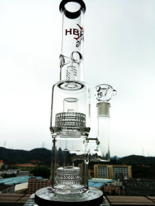 Hb-K14 Triple Dome Birdcage Shower Percolater Water Glass Pipe pictures & photos