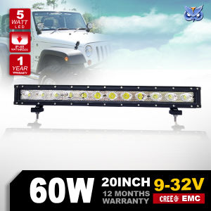 Hot Sale! Single Row LED Light Bar CREE 20inch 60W Truck Roof off Road Tractor LED Light Bar