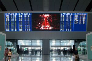 Airport LED Display Board Indoor P6 Tricolor LED Display