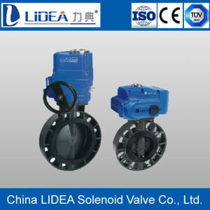 Hot Sale UPVC Electric Butterfly Valve with Factory Price