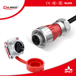 Dh-24 Waterproof Power Connector with 3pins pictures & photos
