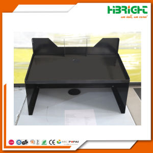 Double Side Supermarket Checkout Counter Stand with Conveyor pictures & photos