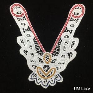 24*24cm Exquisite off White Lace Collar Trim Floral Necklace Bride Wedding Applique Cotton Collar Crochet Embroidery Neck Accessory Hm2022 pictures & photos