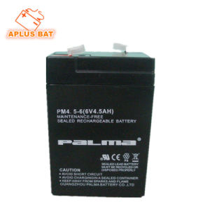 Long Service Life 6V 4.5ah SLA Battery with ABS Container pictures & photos