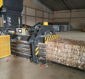 Hba80-11075 Full Automatic Cardboard Baling Press Machine pictures & photos