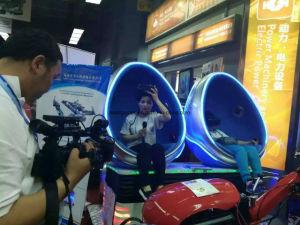 Blue Vr Cinema Simulator 360 Degree 2 Seats Egg 9d Vr Machine pictures & photos