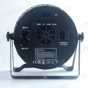 Hot Selling 9 LEDs 10W RGBW 4in1 Plastic Flat Super Slim Stage PAR64 Light pictures & photos