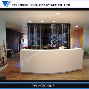 Modern Design Acrylic Solid Surface Reception Counter for Restaurant pictures & photos