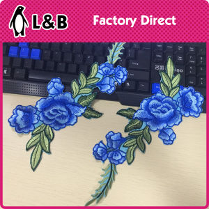 Fashion Embroidery Iron-on Flower Patch pictures & photos