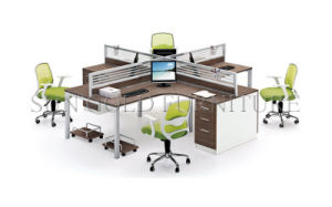 3-Seats Workstation Simple Design Office Table (SZ-WS126) pictures & photos