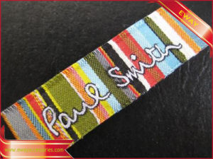 High Density Woven Label Garment Main Neck Label pictures & photos
