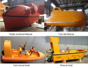 25 Man Fully Enclosed Lifeboat with Gravity Luffing Arm Davit pictures & photos