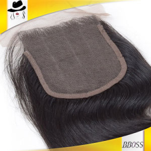 10A Remy Cambodian Forehead Hair Skin Top Lace Closure pictures & photos