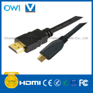 Micro HDMI to HDMI Cable for Cellphone Camcorders HDTV pictures & photos