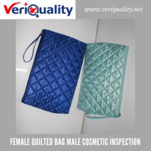 Female Quilted Bag Male Cosmetic Quality Control Inspection Service at Yiwu, Zhejiang pictures & photos
