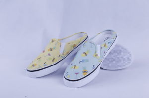 Vulcanized Shoes Rubber out Sole Slip on for Ladies Bz1617 pictures & photos