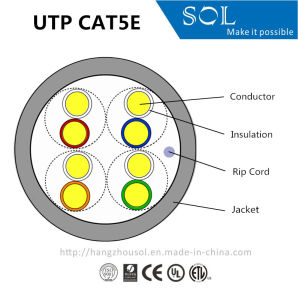 24AWG COmmunication 4P UTP Cat5e Computer LAN Cable