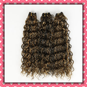 Quality Brazilian Human Hair Weaving Curly Hair 18inches pictures & photos