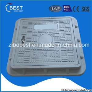 A15 Square 300*300*30mm SMC FRP Plastic Manhole Covers Weight pictures & photos
