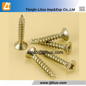 Double Sck Head Zinc Plated Chipboard Screws pictures & photos