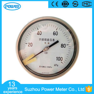"6""150mm Stainless Steel Back Type High Static Pressure Differential Pressure Gauge pictures & photos"