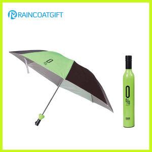 "21""*8k Rain Promotional Folding Wine Bottle Umbrella pictures & photos"
