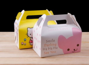 Customized Food Grade Small Cute Paper Cake Box, Cake Pop Boxes Supplier with Handle