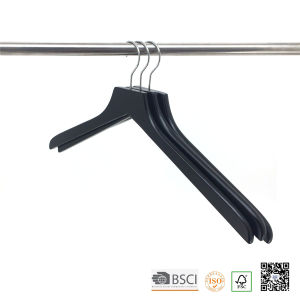 Black Lipu Made Top Wooden Clothes Hanger Hangers for Jeans pictures & photos
