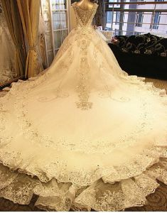 Crystals Bridal Ball Gowns Vestidos Fashion Lace Wedding Dresses CS3 pictures & photos