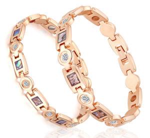 Zircon Diamond Bone Shape Germanium Magnetic Energy Bracelet pictures & photos