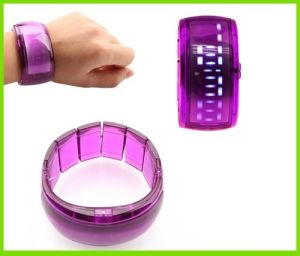 Special Customized Pink Transparent Silicone Watch (BZSW017)