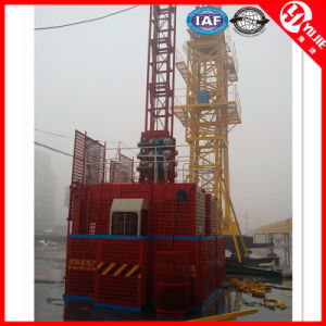 Sc200 Double Cages Electric Construction Hoist for Sale pictures & photos