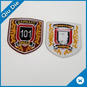 OEM Fashion Promotion 3D Logo Iron on Embroidered Badge pictures & photos