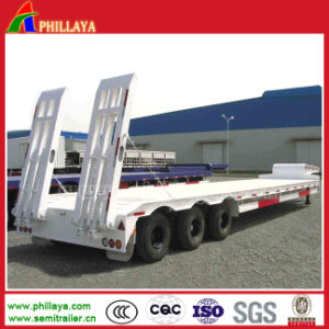 Gooseneck Detachable Hydraulic Low Bed Truck Trailer pictures & photos